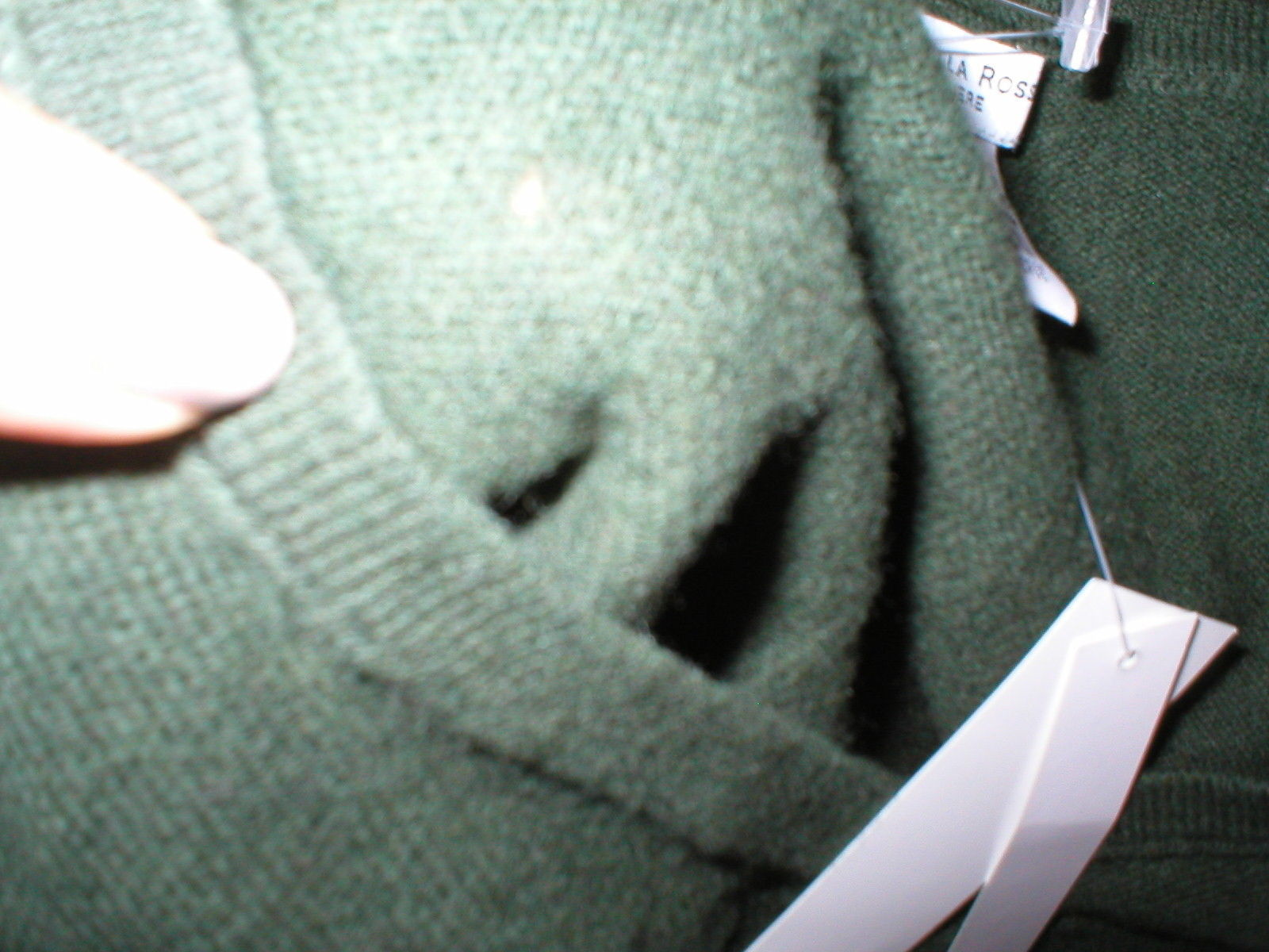 NWT New Womens Sweater Extra Soft Gabriella Rossi Cashmere S Dark Green 2 ply image 6