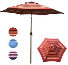 Abba Patio Striped Patio Umbrella 9-Feet Outdoor Market Table Umbrella ... - $116.78