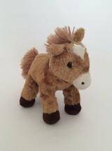 "AURORA Mini Flopsie brown white PRANCER THE HORSE PONY FOAL 6"" bean bag ... - $6.79"
