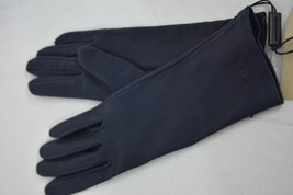 NWT! BURBERRY Leather Women's Jenny Gloves in Navy Blue. Size 8. Gift Re... - $269.00