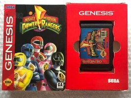 ☆ Mighty Morphin Power Rangers (Sega Genesis 1994) Game Cart & Box Teste... - $19.99