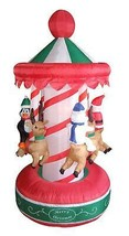 6.5' Inflatable Animated Christmas Carousel Lighted Yard Art Decoration - €108,88 EUR