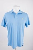 Ralph Lauren Mens Polo Shirt Golf Collared Small Light Blue Polo Horse - $14.25