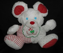 FISHER PRICE 1990 BABY'S 1ST CHRISTMAS MOUSE RATTLE PUFFALUMP STUFFED PL... - $61.29