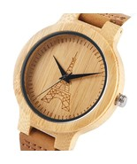 Wooden Round Quartz Women Watches Dial Watch Wristwatch Gift Men - £28.40 GBP