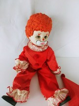 """All Porcelain Clown Doll Body red outfit and hat 15"""" - $42.99"""