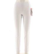 Women with Control Regular Slim Leg Ankle Pants Waist Seams White,Size X... - $24.74