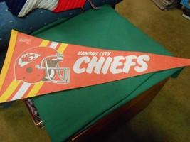 Great Vintage  NFL Pennant KANSAS CIY CHEIFS - $11.47