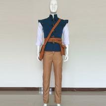 Tangled Prince Flynn Rider Cosplay Costume Eugene Fitzherbert Men Outfit - $96.00
