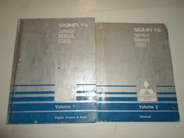 1989 Mitsubishi Sigma V6 Service Shop Manual Factory Oem Book 89 Set 2VOL Worn - $18.41