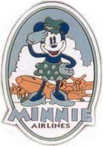 Minnie Mouse vintage Airlines Auction Authentic Disney pin or card - $24.00