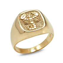 Gold Scorpio Mens Zodiac Sign Ring - $269.99+