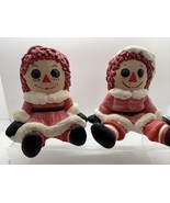 Raggedy Ann & Andy Bobbs Merrill Ceramic Christmas Santa Mrs Claus 1974 ... - $49.50