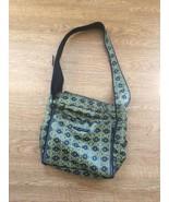 Petunia Pickle Bottom Boxy Backpack Messenger Diaper Bag Gray Black Gold... - $47.23