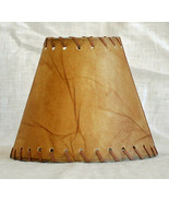 Urbanest Faux Leather Chandelier Lamp Shade Hardback,Leather Laced Trim ... - $9.89