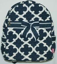 NGIL OTG2828NY Color Navy and White Quilted Microfiber Backpack Geometric Design image 1