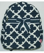 NGIL OTG2828NY Color Navy and White Quilted Microfiber Backpack Geometri... - $39.99