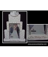 Our Wedding Day Wood Photo Frame Cake NWT Malden 4 x 6 photo - $13.99