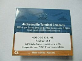 Jacksonville Terminal Company # 405099 K-Line Red Set # 4 40'  Container (N) image 4