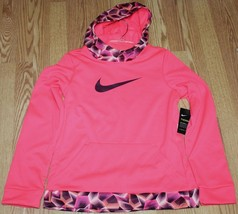 NIKE THERMA-FIT GIRLS TRAINING HOODIE, SIZE XL, RACER PINK, 860094-617 - $21.74