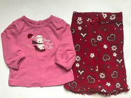 Girl's Size 6M 3-6 Months Two Piece Gymboree Pink Snow Bunny L/S Top & P... - $26.00