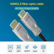 4K Optical HDMI Cable Supports 4K@60Hz, 4:4:4/4:2:2/4:2:0, HDR, Dolby Vision, HD image 2