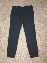 Express Jogger Mens 30 X 30 Navy Blue Twill Pants Cotton NWT Run Big - $26.13