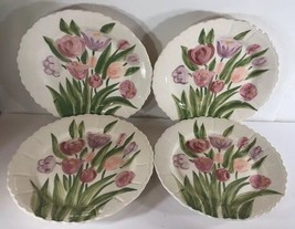 Vintage Hand Painted 4-Dessert Plates by Herman Dodge & Son Homestead Collection - $79.19