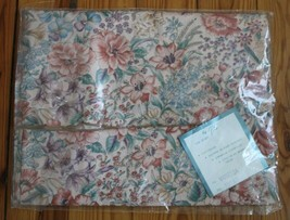 "Vtg NIP P.S. 70"" Round Meadow Floral Tablecloth Vanessa 100% Cotton - $24.70"