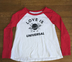 * old navy love universal graphic long sleeve tee shirt top large 10 - 1... - $3.96