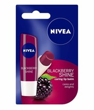 Nivea Blackberry Shine Caring Lip Balm 4.8 gm Long Lasting Moisturiser F... - $8.45+