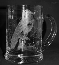 BEARDED VULTURE Boxed Crystal Glass Pint Tankard - $54.99