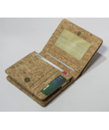 EcoQuote Eco Friendly Compact Bi Fold Wallet Handmade Cork Material for ... - $27.50