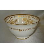 ROYAL CHELSEA English Bone China 22K Gold Leaf Pattern Dessert Cup/Bowl ... - $11.66