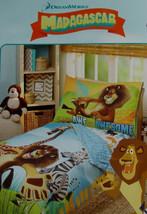 Dreamworks Madagascar Blue Comforter Sheets 4PC Toddler Bedding Set New - $53.41