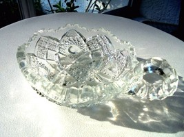 "Imperial Glass Thonged Star Pattern 5"" One Handle Nappy c 1909 - $18.80"