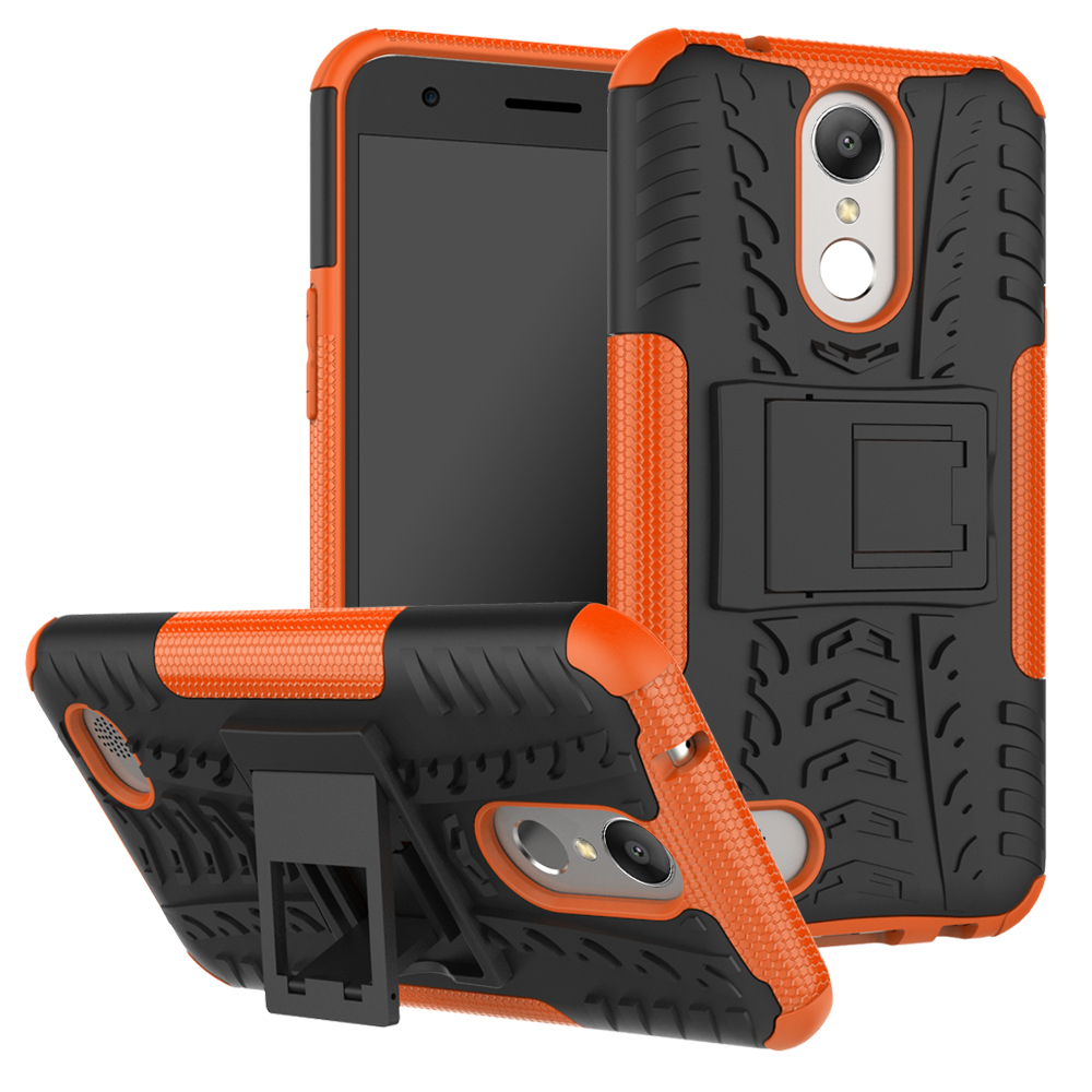 Protective cover with kickstand for lg harmony k20 v k20 plus k10 2017 orange p20170507040025223