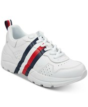 Tommy Hilfiger Women's Envoy Lace-Up Leather Fashion Sneakers Shoes New w/Defect image 1