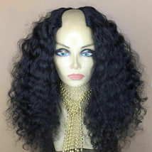 Curly U Part Human Hair Wig Remy Brazilian Curly Hair U Part Wig For Bla... - $107.18+