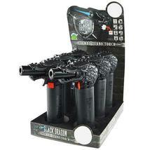 Black Dragon Head Jumbo Torch REFILLABLE Butane Lighter - One Lighter image 3