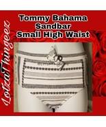 Tommy Bahama Sandbar Textured High Waist Bikini Swimsuit Bottom S TSW204... - $27.71