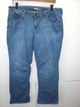 W13592 Womens OLD NAVY Diva Blue Stretch BOOT CUT JEANS Denim 12 Short - $28.92