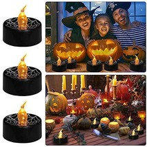 GePrint LED Halloween Cobweb Tea Light 12 Packs Flameless Battery Operat... - $17.28