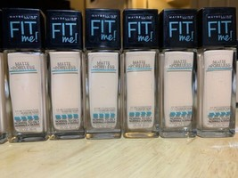 X7 MAYBELLINE FIT ME FOUNDATION MATTE+PORELESS #115 NEW - $39.59