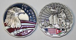 "Jtc Jordan Joint Task Eagle Flag 3D 1.75"" Military Challenge Coin - $17.09"