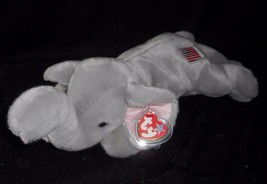 """14 """" Ty 2000 Bonnet Copains Righty The Gris Éléphant Animal en Peluche Jouet Tag - $14.39"""