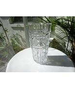 """Crystal Wide Barrel Cut Flower Vase 9"""" Tall - $17.82"""