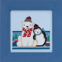 Polar Peace 2017 Polar Opposites cross stitch kit Debbie Mumm Mill Hill - $14.85