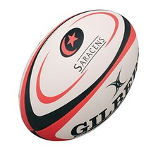 Gilbert Saracens Replica Rugby Ball image 2