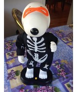 Peanuts Halloween Snoopy Skeleton Musical Dancing To the Peanuts Song New - $69.99